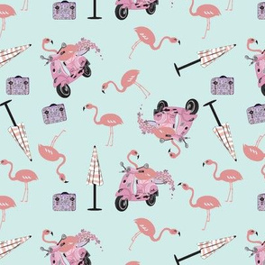 Riding On Pink Daydreams - Small Print