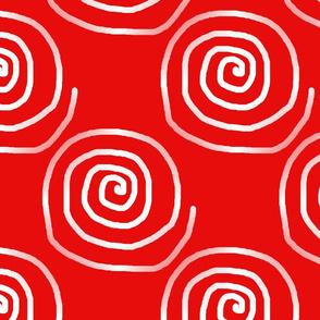 Crazy Red Spirals