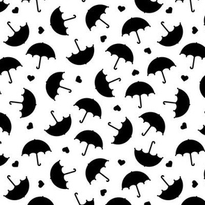 Umbrella love dancing in the rain scandinavian gender neutral black and white