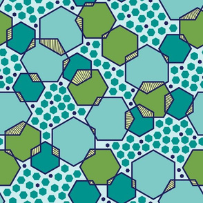 Intersecting Hexagons (Ocean)