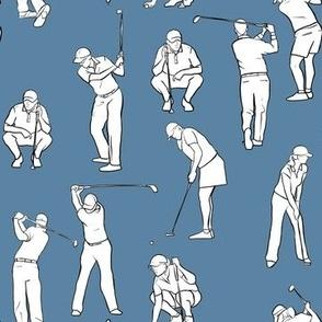 Golf on Medium Blue