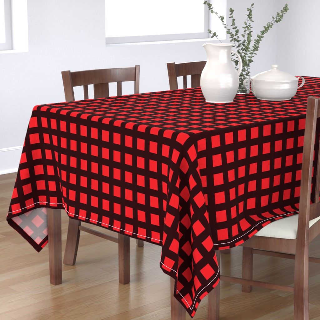 Bantam Rectangular Tablecloth featuring WOW Grid 4 by anniedeb