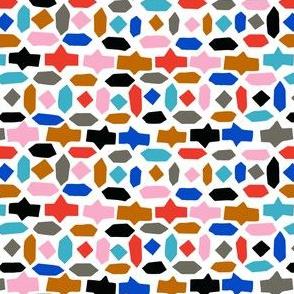 mosaic gem happy Moroccan abstract hexagon geometric