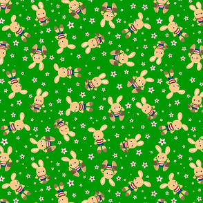 Cute Cartoon Grass Bunnies by Cheerful Madness!!