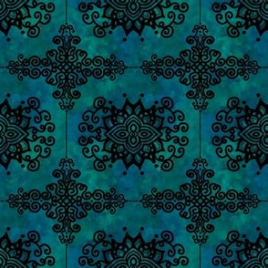 Project 280 | French Country | Ornate Filigree | Dark Teal