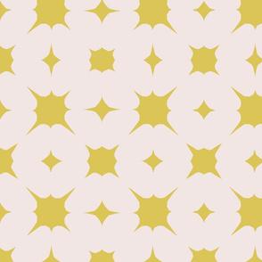 Splash~mustard on sunbleached pink