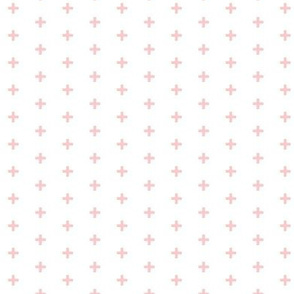"Tiny Crosses - Pink - 1/3"" plus on white-ch-ch"