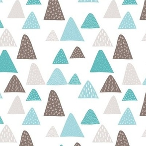 Summer winter mountain triangle colorful mountains woodland gender neutral