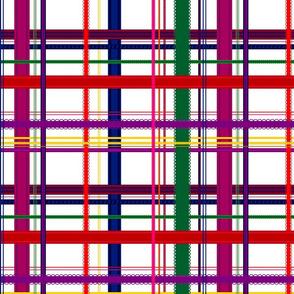 Rainbow Ribbon Plaid
