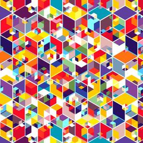 Hexagon Cubes - Bright
