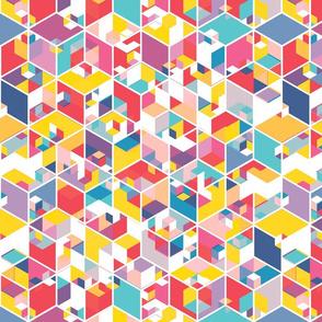 Hexagon Cubes - Candy