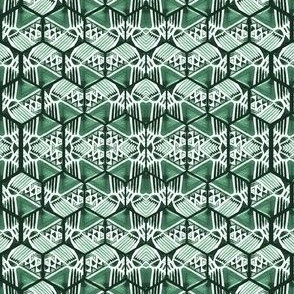 emerald hexagons