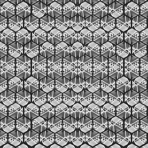 Monochrome Honeycomb  water color