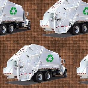 Brown Garbage Trucks