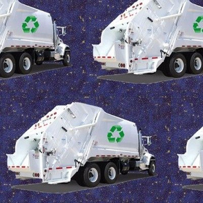Navy Garbage Trucks