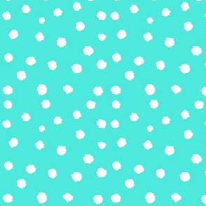 Painted Polka Dot // Turquoise