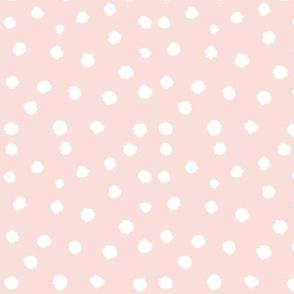 Painted Polka Dot // Light Peachy Pink