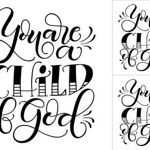 2 loveys - 1 blanket - You are a child of God