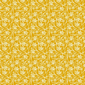 Edelweiss Lace Nr. 2 Yellow. Small Scale
