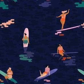 Surf goddess dark blue