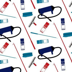 Show Supplies - navy, red, teal