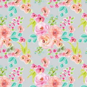 bright and cheery floral gray