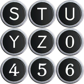 Old School Typewriter Keys - large