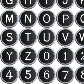 Old School Typewriter Keys - medium