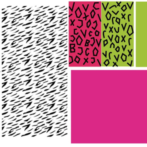 Misfits fabric for Jem and the Holograms Pizzazz, Roxy, and Stormer!