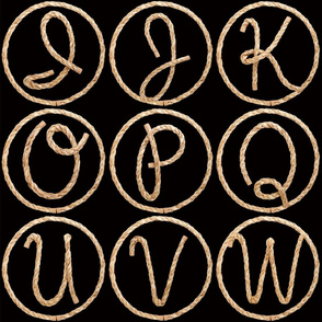 Lasso Alphabet - large