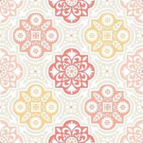 Havana Tile in Blush Pink & Yellow