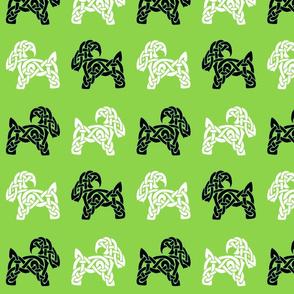 Celtic Goat 1 on green