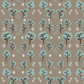 Trees and Leaves in Slate