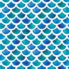 Mermaid Scales in Blue and Green
