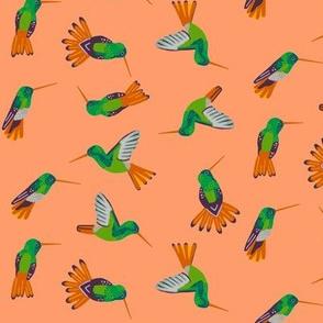 hummingbird scatter [peach]