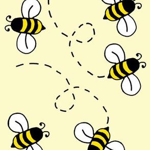 Sunny Yellow Honey Bumble Bee