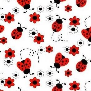 Red Ladybug Floral