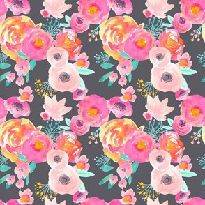 INDY BLOOM BLUSH Florals Grey_C