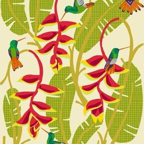 hummingbird paradise [heliconia yarrow]