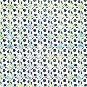Painted Aqua Soccer Balls