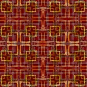 Urban Plaid Square - RED