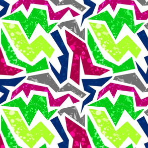 Abstract pattern Multicolor zigzag