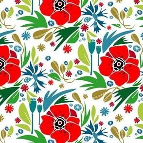 Paper cut joy: meadow flowers