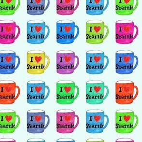 I Love Seattle Rainbow Mugs