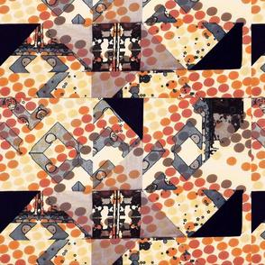 Quilt block overlay