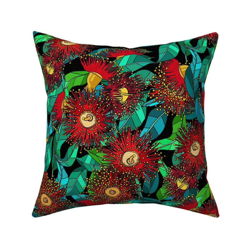 Catalan Throw Pillow featuring GeorgieSharp - eucalyptus flower_2 by georgiesharp
