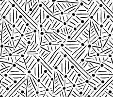 "Lines ""Drawn to"" Circles - Black & White"