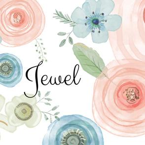 Jewel Watercolor Flowers