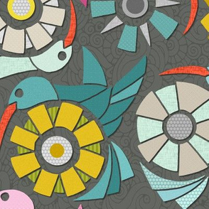 paper sunbirds graphite