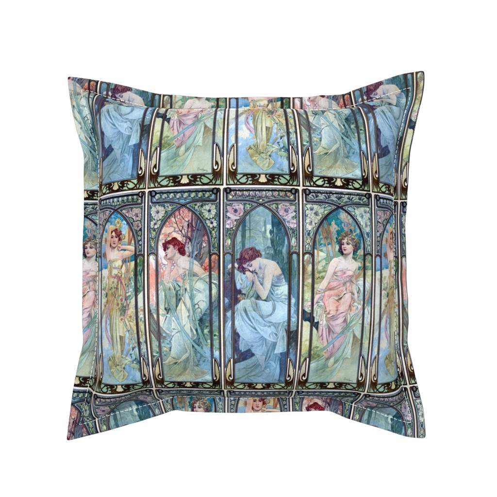 Serama Throw Pillow featuring The Times of the Day by mandamacabre
